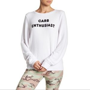Wildfox Carb Enthusiast CrewNeck Sweater Large NWT